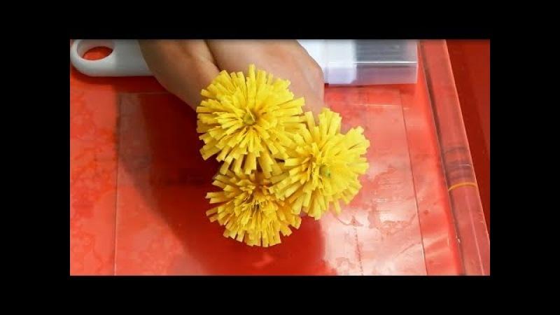 Лайфхак одуванчик из холодного фарфора, чем быстро нарезать лепестки одуванчика и маргаритки, из чег