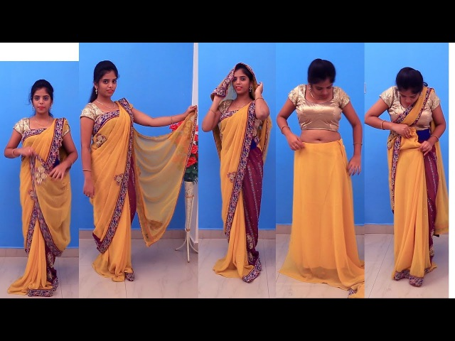How To Wear Saree In Different Styles || Saree Draping Styles For Party For Party Weddings