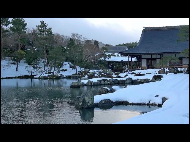 京都 天龍寺 雪の日(2017-01)Tenryū-ji Temple on a snowy day, Kyoto