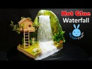 Hot Glue Waterfall mini House Building Tinker Bell's Tree house Tutorial Hot Glue NOVA Craft