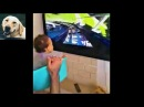 Baby rides virtual roller coaster on TV