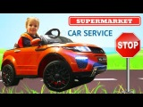 Baby Playing with new car go to the toy store car broke down Johny Johny Yes Papa songs for kids