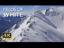 4K Fields Of White - Snowy Mountains Nature Video Relaxing Ambient Music - Ultra HD - 2160p