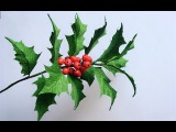 ABC TV How To Make Holly From Paper - Craft Tutorial