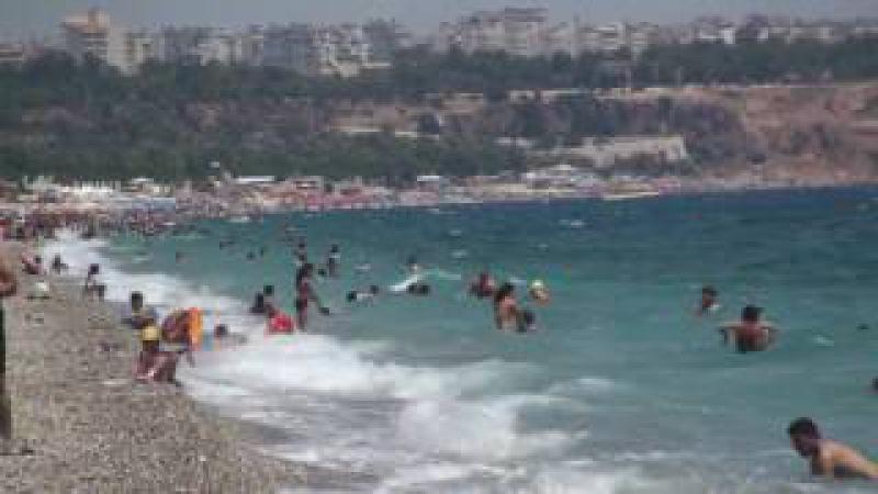 (HD) beach antalya turkey konyaaltı plajı (2)
