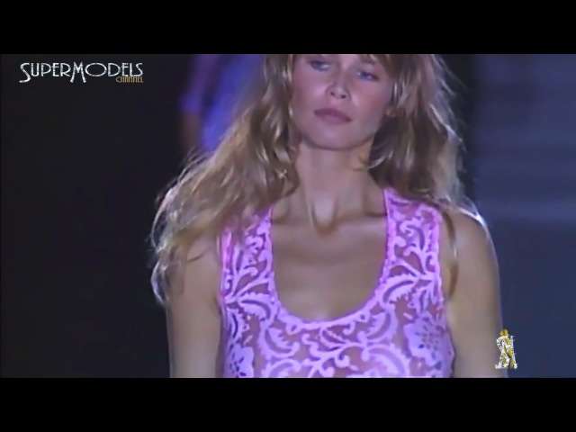 Claudia Schiffer Best Moments on Catwalk 1990 - 2000 part 1 by Supermodels Channel