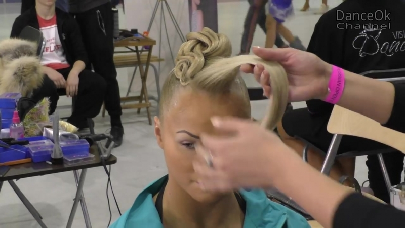 Female hairstyle for dancesport competition. Step2 _ How to make _ Hairstyle for