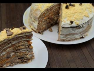 Готовим блинный печеночный торт. Очень вкусно!
