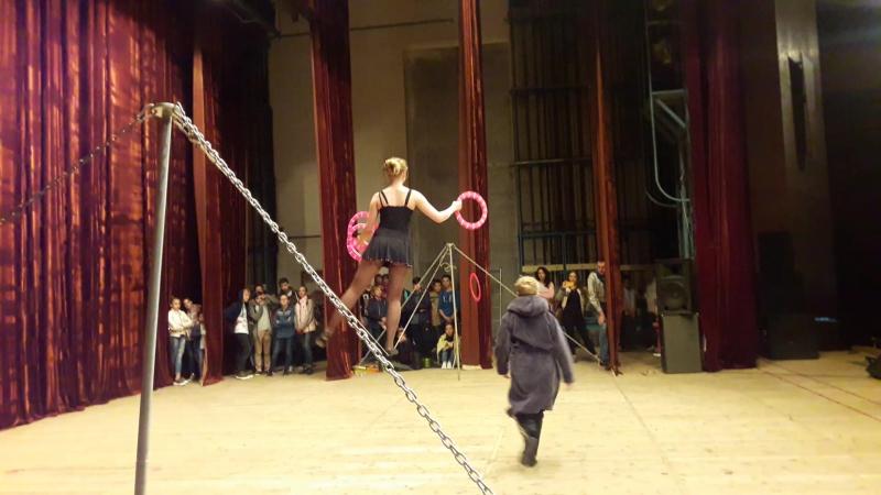 Народний цирк ''Каскад'', м. Трускавець (еквілібр на линві). Христина Ломакіна