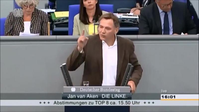 Van Aken scheisst den Bundestag zusammen