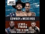 #UFCAustin Derrick Lewis vs. Marcin Tybura