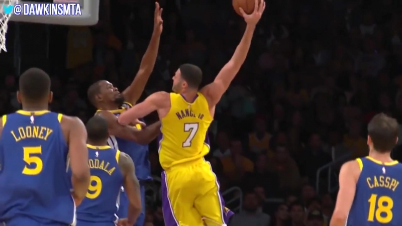 Kevin Durant Dunked On 3 Times in First Half vs Lakers Larry Nance Jr With a NASTY Poster Dunk