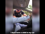 Сэр, у вас в машине ребенок без детского кресла...
