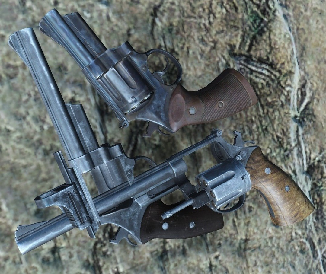 Western revolver - pistol grip retexture (Nuka World) at Fallout 4