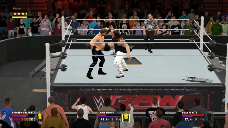 WWE2K17 Wade Barret vs Chris Benoit vs Bray Wyatt