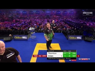 Robert Thornton vs Brendan Dolan (PDC World Darts Championship 2018 / Round 1)
