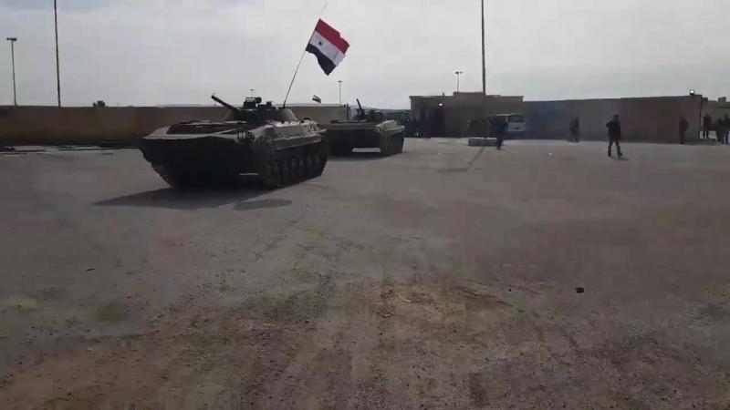 Сирия. Сирийские войска выдвинулись в подконтрольный курдам Африн для отражения турецкого вторжения 20.02.2018