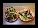 Фруктовая тарелка, фигурная нарезка
