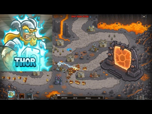 Kingdom Rush HD Bonus Premium Level 25 Pit of Fire Heroic Hero Thor