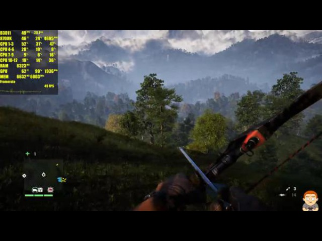 Far Cry 4 Запустили на PC в разрешении 5K GTX 1080 TI OC 8700K