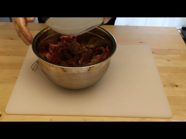 Making Kabanosy traditional Polish snack stick