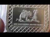 Серебряное изделие частного монетного двора SilverTowne,вес 31,1гр.,проба 999.