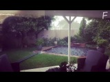 Град в ЮАР 30.12.2017   Hail in South Africa   南アフリカの都市