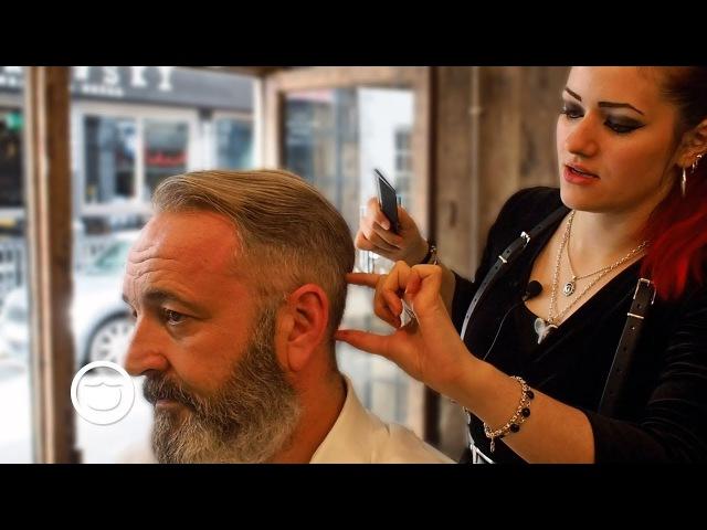 ASMR Old School Haircut and Beard Trim | Cut and Grind
