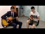 КАРА ТОРЫ КЫЗ - ТОРЕГАЛИ ТОРЕАЛИ(Dombyra &amp Guitar cover)