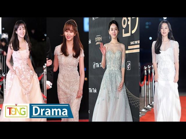 여배우들의 화려한 레드카펫 현장…'2017 KBS 연기대상' (2017 KBS Drama Awards, 김소현, 신혜선, 세5