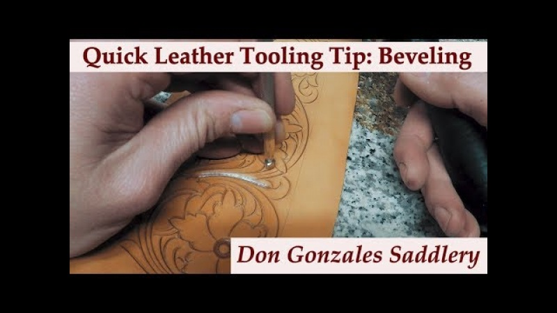 Quick Leather Tooling Tip on Beveling