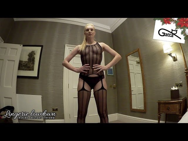 PREVIEW ONLY Joceline Brooke Hamilton reviews Gatta Red Rose 02 bodystocking