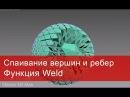 4. Спаивание вершин и ребер в 3ds max. Функция Weld в Editable poly и Spline.
