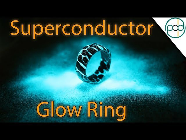 Making a GLOWING Acid Etched Superconductor Ring with Obsidian Facets Part 2