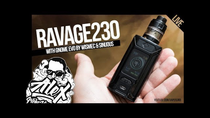 RAVAGE230 with GNOME Evo TC Kit | by WISMEC SINUOUS l Alex VapersMD review 🚭🔞