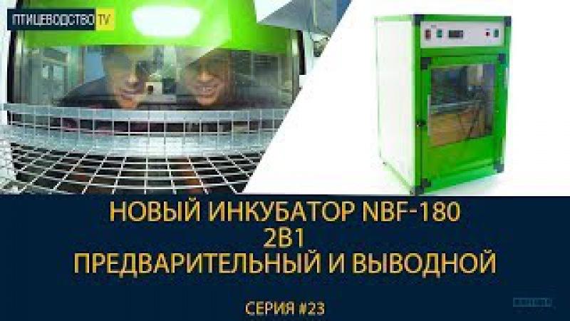 Новый профессиональный инкубатор NBF-180 (2в1 - предварительный и выводной)