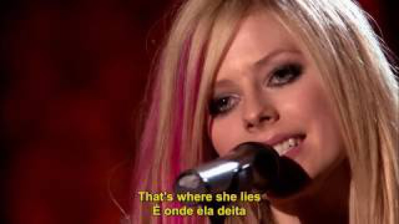 Avril Lavigne Nobody's Home Acoustic Live Legendado em PT ENG