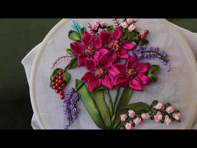Hand embroidery Designs- Ribbon embroidery stitches for beginners.