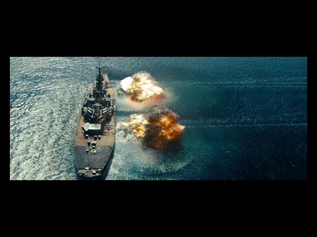 Бой Линкора с инопланетным кораблем Морской бой