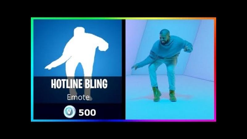 10 Emote Ideas in Fortnite Battle Royale! Hotline Bling Drake Emote!