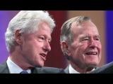 George H.W. Bush describes Clinton as 'de man!'