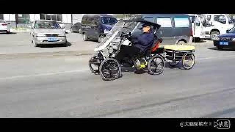 Camel trike Aluminum alloy high seat electric recumbent quad cycle MH420E