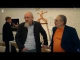 Марат Гельман и Олег Кулик проводят экскурсию по выставке Art Riot в лондонской Saatchi Gallery