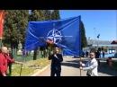 Montenegrins Burned a NATO Flag