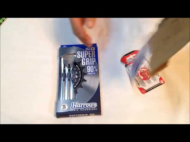 Посылка из магазина harrows darts ru Дротики Harrows Supergrip 90%