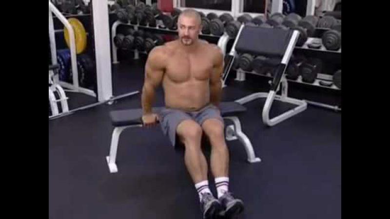 Упражнения для трицепсов - Отжимание на скамье