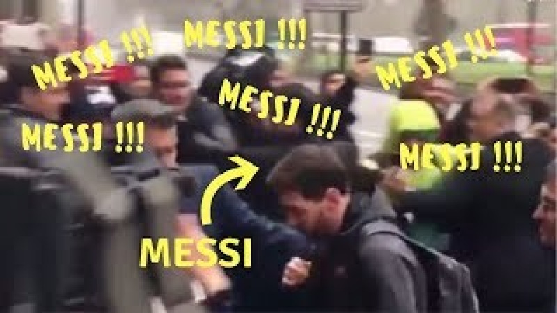 Lionel Messi arrives in London, crowd becomes loud for Messi, Suarez, Pique and Iniesta