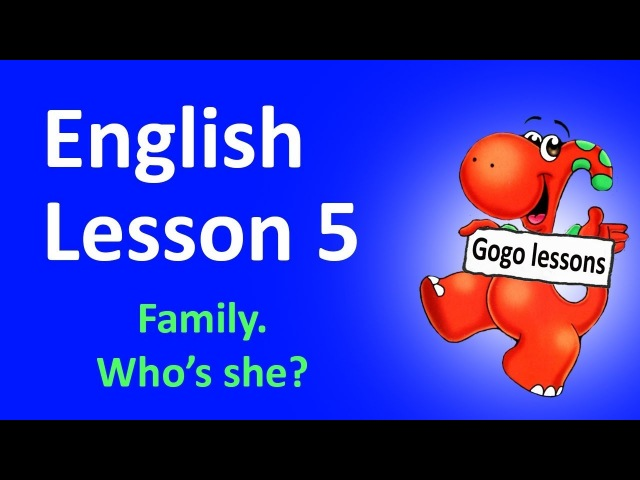 English Lesson 5 - My family vocabulary | Learn English for kids, family song