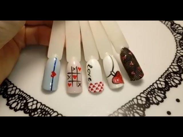 Дизайны ногтей к 14 февраля 💖. Быстро, просто и легко!