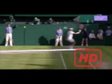 Sick flick backhand pass - Federer vs Murray Wimbledon 2015